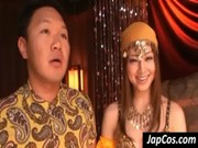 Asian cutie play Arabic dancer