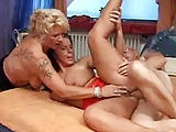grandmother teaches a young girl a good fuck