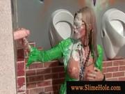 Blond slut cant get enough bukakke