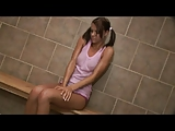 Smoking hot teen banged in the bathroom