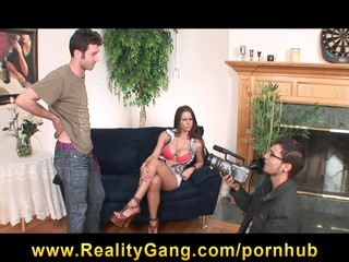 Horny big-tit brunette slut Pornstar Rachel Roxxx fucks hard-dick